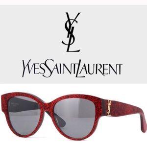 Yves Saint Laurent New Red Glitter Sunglasses